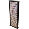 Media Storage Tower-Tall Single, 28 x 9-1/2 x 76, Black