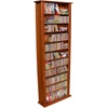 Media Storage Tower-Tall Single, 28 x 9-1/2 x 76, Cherry