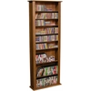 Venture Horizon Media Storage Tower-Tall Single, 28 x 9-1/2 x 76, Walnut