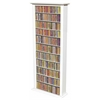 Media Storage Tower-Tall Single, 28 x 9-1/2 x 76, White