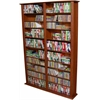 Media Storage Tower-Tall Double, 52 x 9-1/2 x 76, Cherry