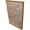 Media Storage Tower-Tall Double, 52 x 9-1/2 x 76, Oak