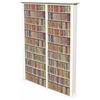 Media Storage Tower-Tall Double, 52 x 9-1/2 x 76, White