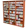 Media Storage Tower-Tall Triple, 76 x 9-1/2 x 76, Cherry