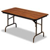 Iceberg Premium Wood Laminate Folding Table, Rectangular, 72w x 30d x 29h, Oak