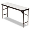 Iceberg Premium Wood Laminate Folding Table, Rectangular, 60w x 18d x 29h, Gray/Charcoal