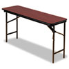 Premium Wood Laminate Folding Table, Rectangular, 72w x 18d x 29h, Mahogany