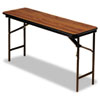Iceberg Premium Wood Laminate Folding Table, Rectangular, 72w x 18d x 29h, Oak