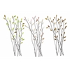 Benzara Metal Wall Decor Set Of 3 Assorted Casted In Twig Shape