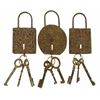 Benzara Metal Key Set Decor 3 Asst To Keep The Keys Safe