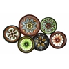 Metal Wall Decor With Six Round Shaped Plates
