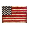 Metal Wall Decor With American Flag Replica