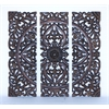 """36""""H Modern Wood Wall Panel With Dark Finish (Set Of 3)"""