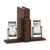 Benzara Attractive Styled Wood Metal Bookend Pair