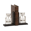 Eye-Catching Customary Styled Wood Metal Bookend Pair