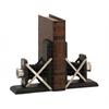 Benzara Creative Styled Wood Metal Bookend Pair