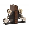 Benzara The Cinema Wood Metal Book End Pr