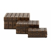Benzara Classy And Arty Wood Metal Box Set Of 3