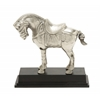 Benzara Eye-Catchy And Sturdy Aluminum Horse