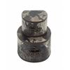 "Benzara Round Wood Faux Leather Box Set Of 2 10"", 14""W"