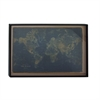 Amazing Wood Wall World Map, Navy Blue