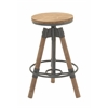 "Benzara Durable Wood Metal Bar Stool 18""W, 28""H"