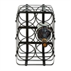 Classy Metal Wine Holder, Black