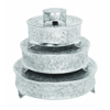 Benzara Aluminum Cake Stand Set Of 4 For Stylish Host