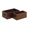 Benzara Simple And Beautiful Set Of 2 Wood Organizer
