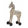 Benzara Simply Delightful Wood Rolling Horse