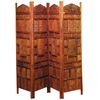 Benzara Wood Screen 4 Panels A Decorative Privacy Screen