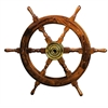 Benzara Wood Brass Shipolystonewheel A Low Priced Nautical Wall Decor