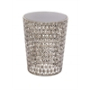 Benzara The Intricate Metal Glass Accent Table
