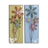 Lovely Floral Themed Assorted Set Of Two Wall Panel