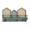 Benzara Enthralling Styled Wood Wall Shelf With Hook
