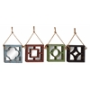 Benzara Simply Lovely Wood Wall Mirror 4 Assorted