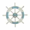 Benzara Antique Themed Wooden Ship Wheel Wall Decor