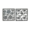 Set Of 2 Assorted Appealing Metal Wall Décor