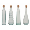 "Striking Set Of 4 Glass Stopper Bottle 2""W, 8""H"