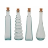 "Appealing Set Of 4 Glass Stopper Bottle 3""W, 11""H"