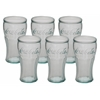 "Adorable Set Of Six Glass Coca Cola 3""W, 6""H"