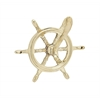 Benzara Unique Brass Ship Wheel Hook