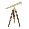 Benzara Distinctive Brass Wood Telescope