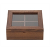 "Benzara Sassy Wood Glass Box 6""W, 2""H"