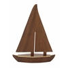 "Benzara Nautical Wood Brass Sail Boat 15""W, 20""H"
