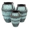 Benzara Set Of 3 Metal Vase With Exemplified Finesse