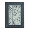 Benzara Designed Metal Wood Wall Clock With Mesh Pattern