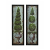 Benzara Antique Metal Wood Wall Décor 2 Assorted