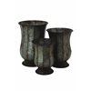 Benzara Old Rustic Metal Planter Set Of Three