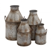 Benzara The Rustic Set Of 4 Metal Pots